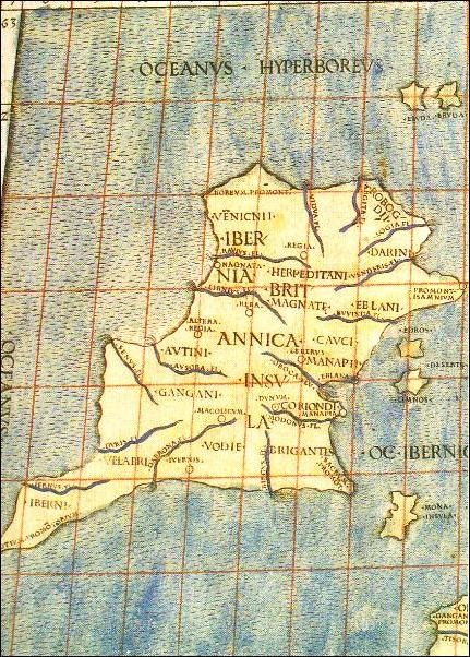 Ancient Map Of Ireland.Early Maps Of Ireland