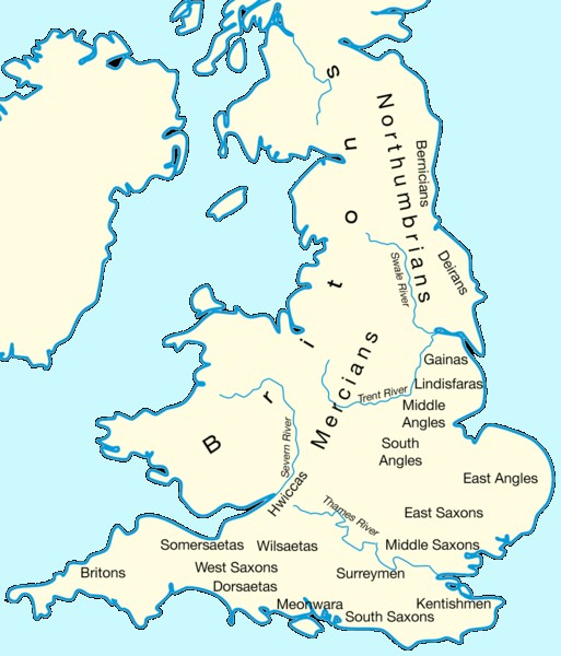 Map Of England 700ad.The Germanic Invasions Of Britain