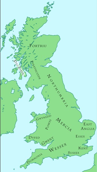 Map Of England 450 Ad.The Germanic Invasions Of Britain