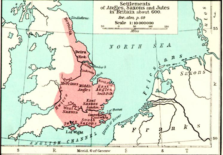 Map Of England King Arthur.Maps For The Old English Period