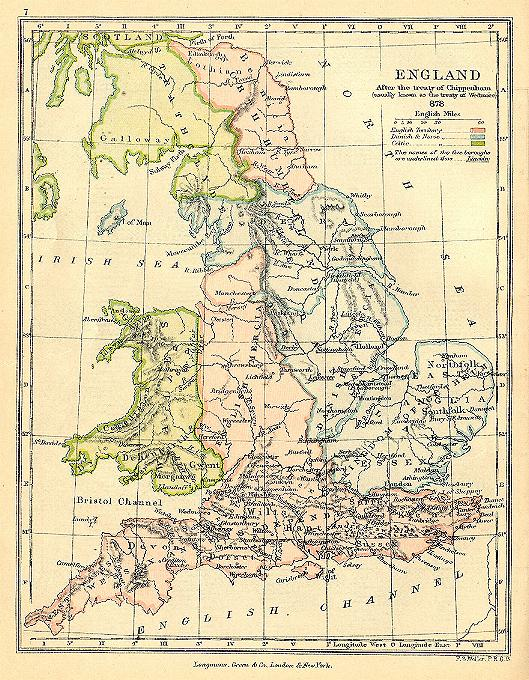 Map Of England 9th Century.Maps For The Old English Period