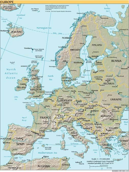 Maps with locations of languages map of europe publicscrutiny Gallery