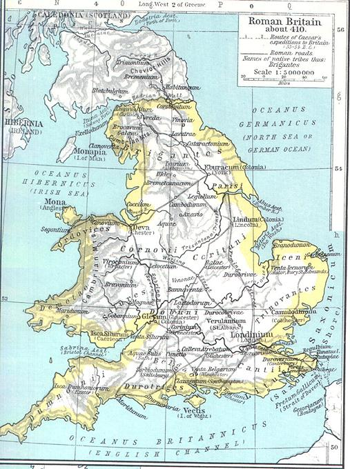 Map Of England In 9th Century.Maps For The Old English Period