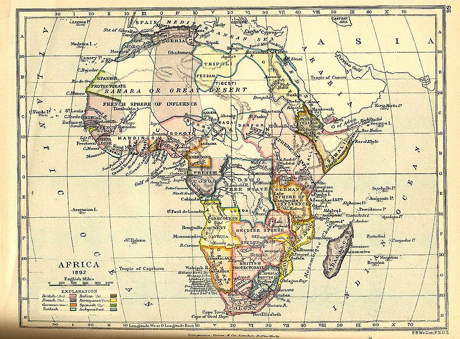 Map Of Africa Before Colonization.Africa