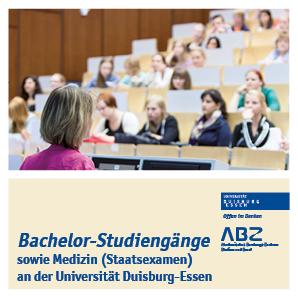 Titelbild des Flyer Bachelor-Studiengänge an der UDE