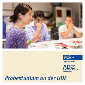 Titelbild des Flyer Probestudium an der UDE
