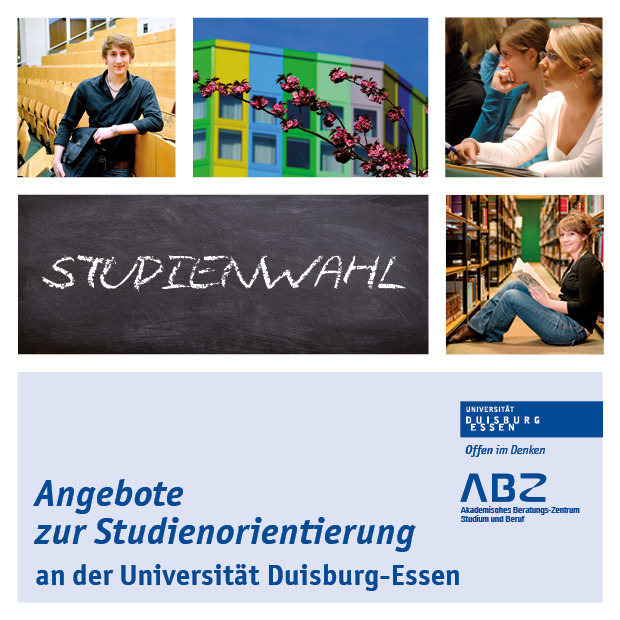 Titelbild des Flyer Angebote zur Studienorientierung