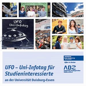 Titelbild des Flyer Uni-Infotag