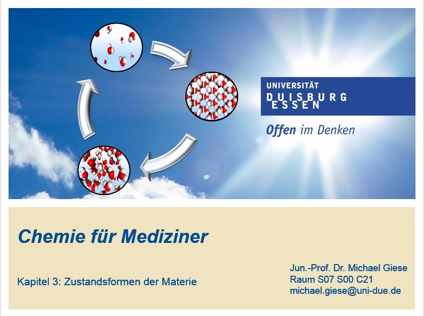 Vorlesung  U0026quot Chemie F U00fcr Mediziner U0026quot