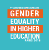 Logo of the ninth Conference on Gender Equality in Higher Rearch