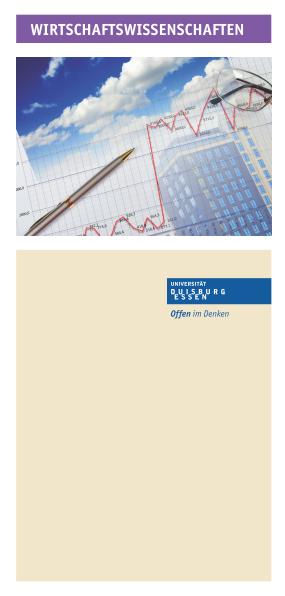 Studienangebot for Nc wirtschaftswissenschaften