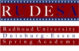 Logo der Radboud University and University of Duisburg-Essen Spring Academy