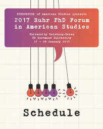 Cover des Prgramms des Ruhr-PHD-Forums in American Studies 2017