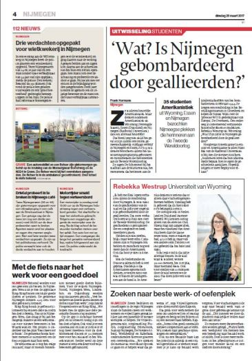 Dutch article on the third RUDESA Spring Academy.
