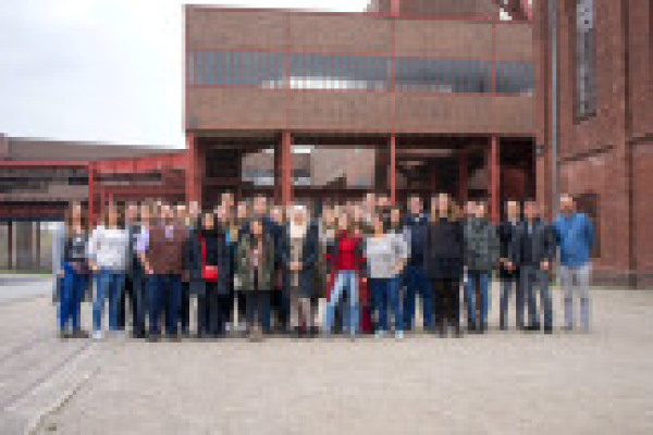 The participants of 2019s RUDESA Spring Academy in front of Zeche Zollverein.