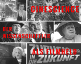 The picture shows several scientists as depicted in various films.