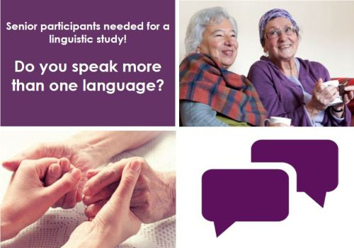 Senior participants needed for a linguistic study! Do you speak more than one language?
