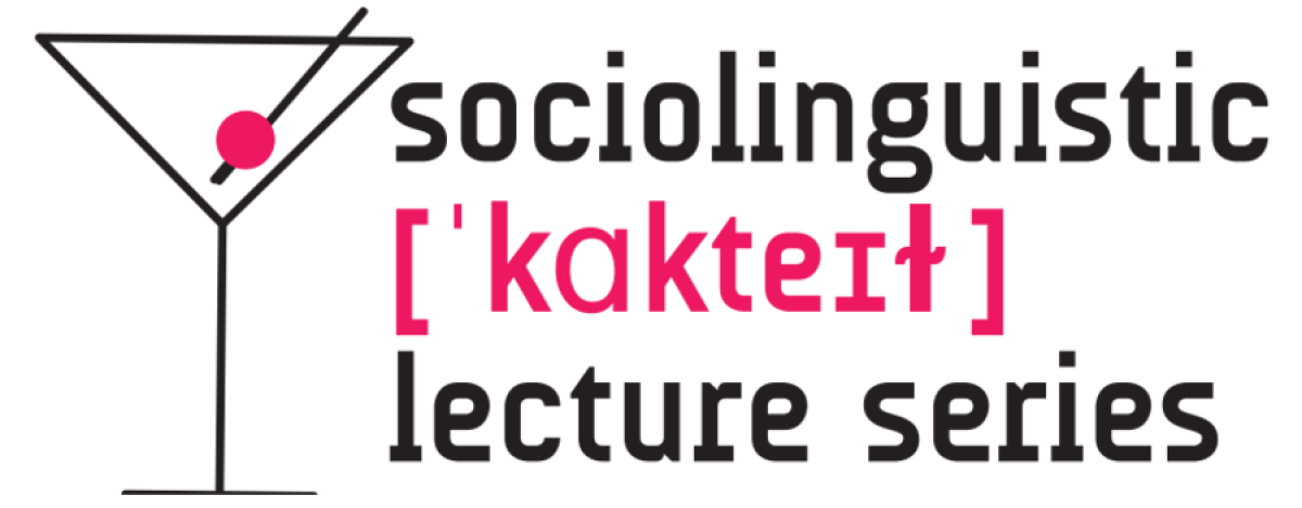 Logo sociolinguistic cocktail lecture series