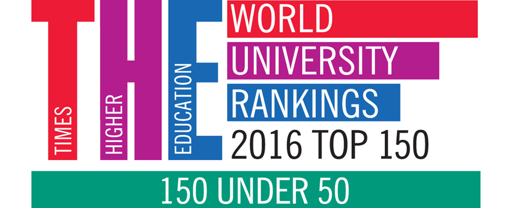 Times Higher Education World World University Rankings 206 TOP 150, 150 Undern 50