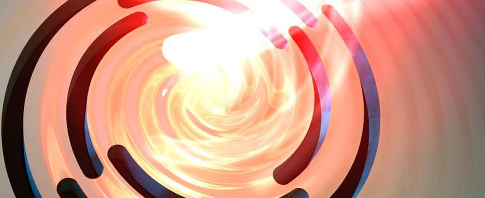 Lichtspirale auf Gold (Bild: Uni Stuttgart)