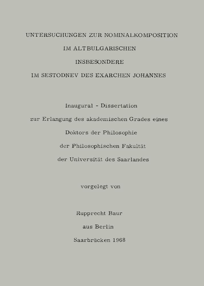 Dissertation publikationen