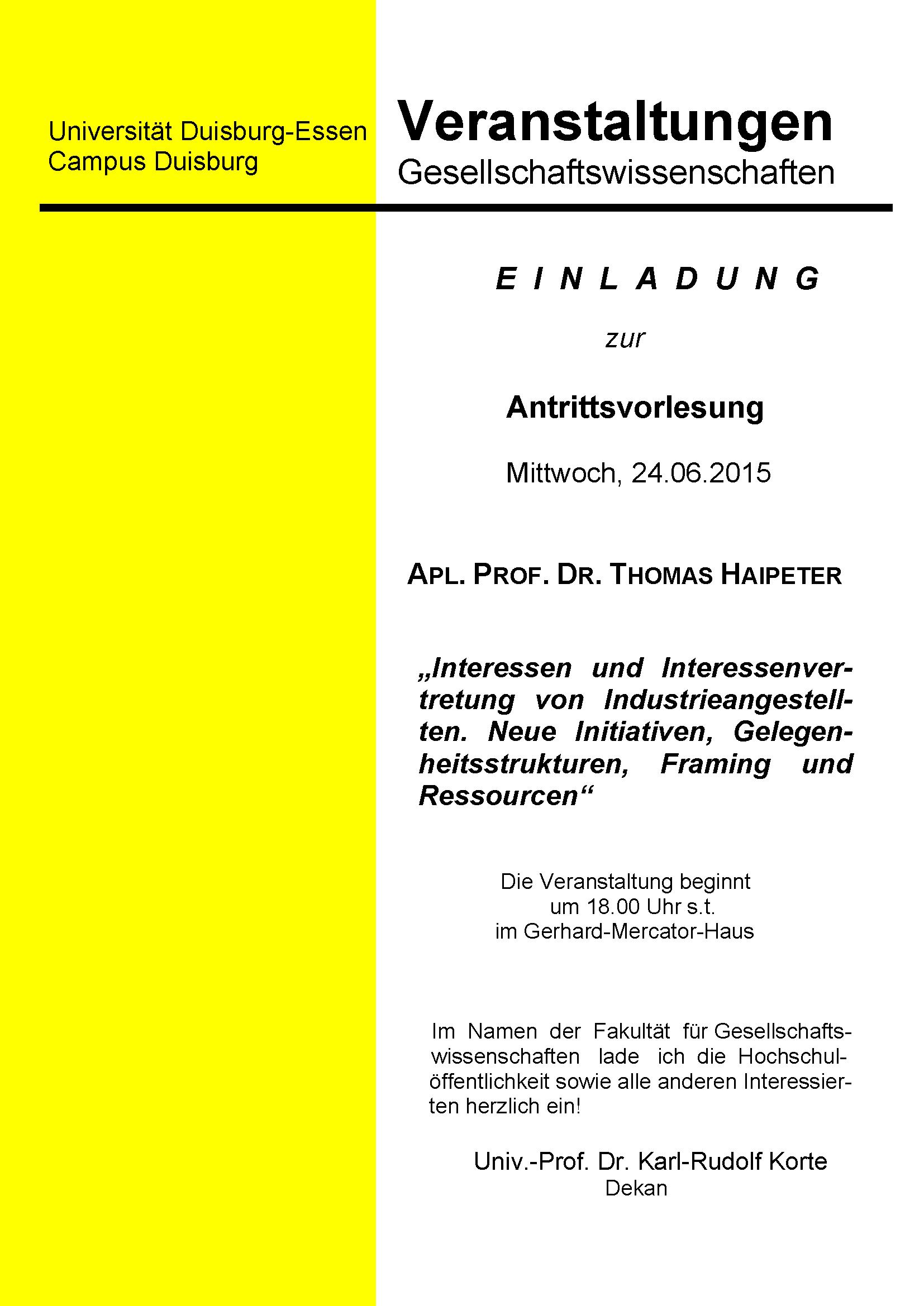 archiv aktuelles vom institut für soziologie sommersemester 2014, Einladungen