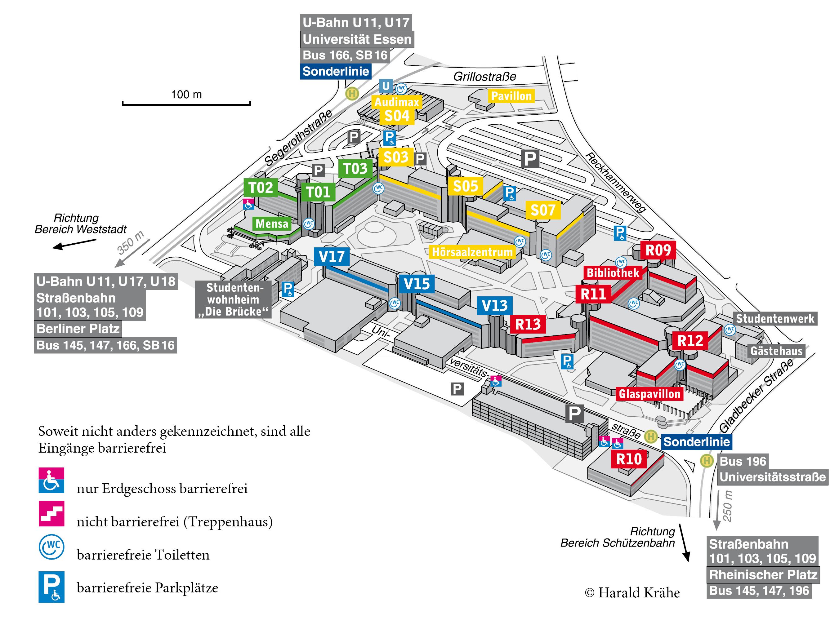 Lageplan Campus Essen