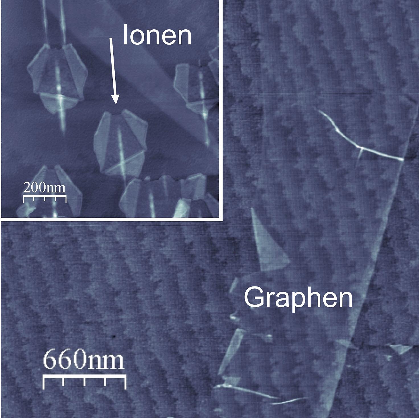 Eine einzelne Graphenlage (Fotonachweis: UDE)