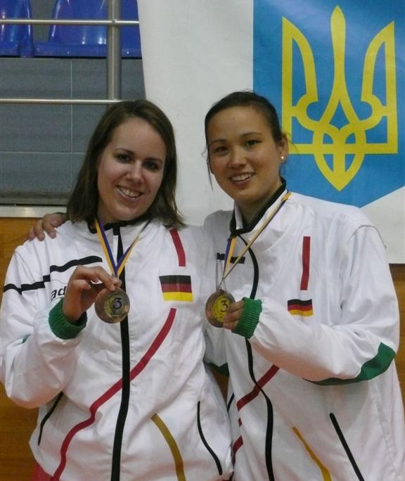 Laura Ufermann (l.) und Studenten-Europameisterin Kim Buss. Foto: Bastian Kruse ©