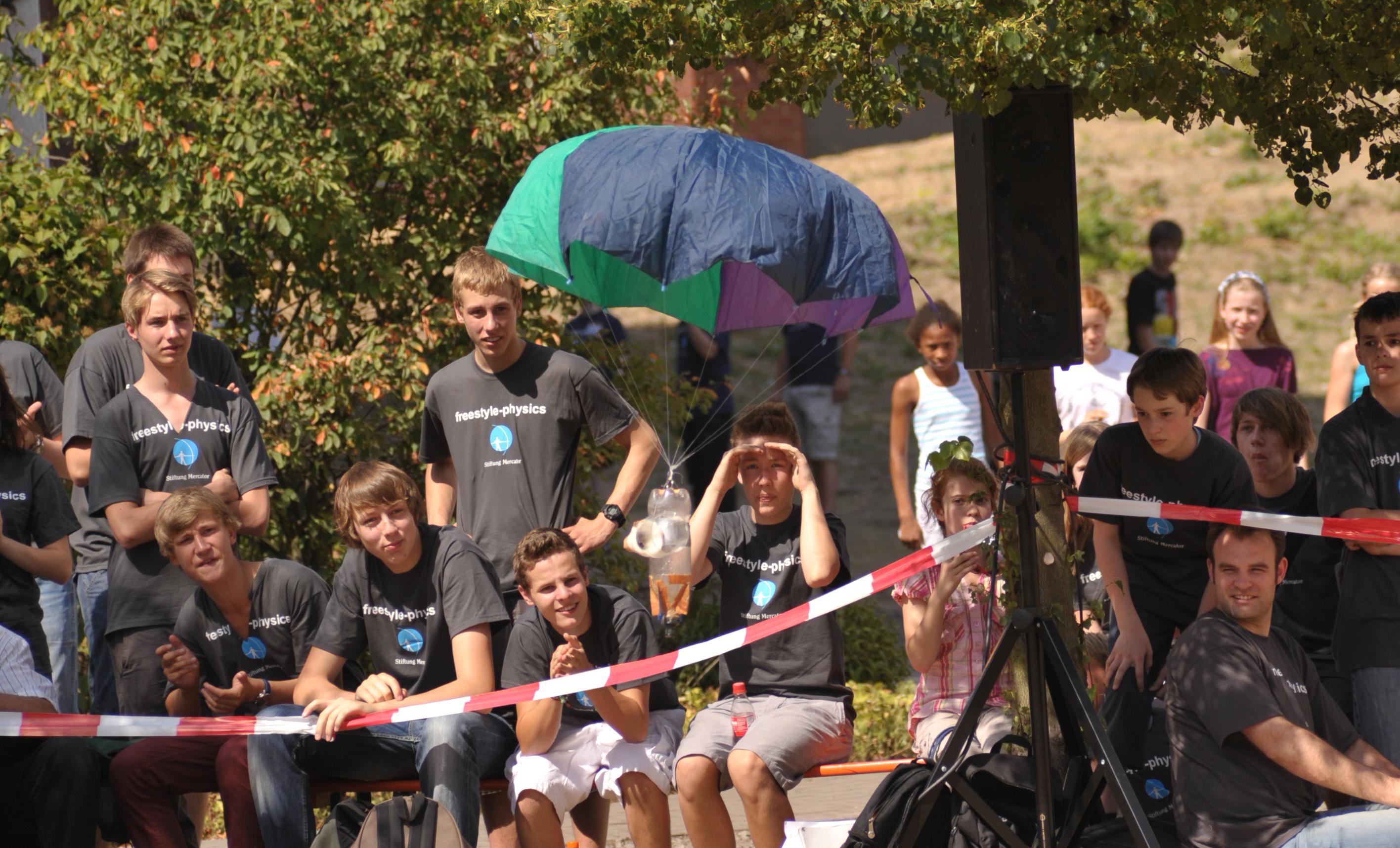 Wasserraketen-Finale des Wettbewerbs 2011 (Fotonachweis: UDE)