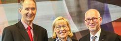 Die Rektoren der UA Ruhr (von links: Prof. Ulrich Radtke (UDE), Prof. Ursula Gather (TUD) und Prof. Elmar Weiler (RUB), Foto: UA Ruhr)