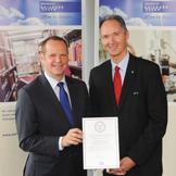 v.l. Prof. Dr. Bernhard Kempen, Rektor Prof. Dr. Ulrich Radtke