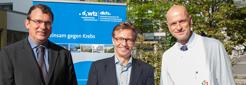 v.l.: Prof. Dr. Dirk Schadendorf, Prof. Dr. Jürgen Becker, Prof. Dr. Martin Schuler