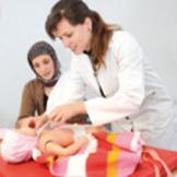 Simulierte Untersuchung mit präparierten Patientenschauspielern