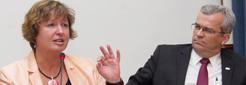 Prorektorin Prof. Klammer und Rektor Prof. Ivan Camargo (UnB)