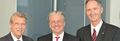 v.l.: Prof. Dr. Dieter Bitter-Suermann, Prof. Dr. Jochen A. Werner und Prof. Dr. Ulrich Radtke