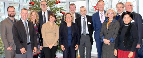 Die Delegation traf auch NRW-Wissenschaftsministerin Svenja Schulze (© MIWF/Margaret Beye)