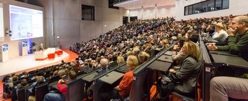 Götz W. Werner im Neuen Audimax am Essener Campus