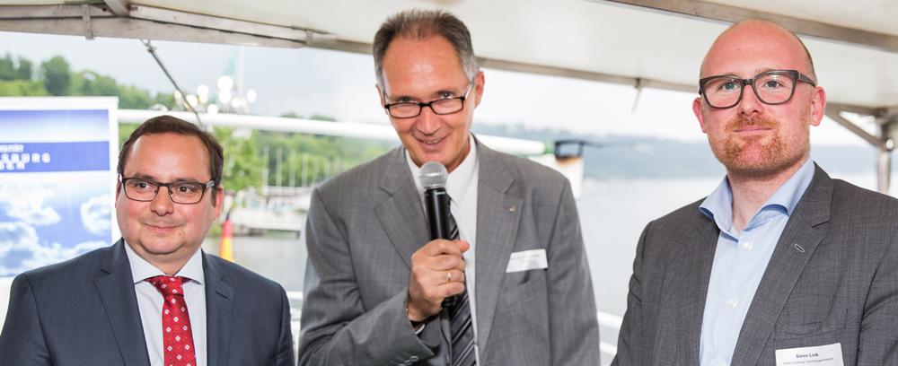 v.l.: OB Thomas Kufen, Rektor Ulrich Radtke und OB Sören Link