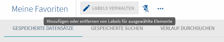 Favoritenliste Labels