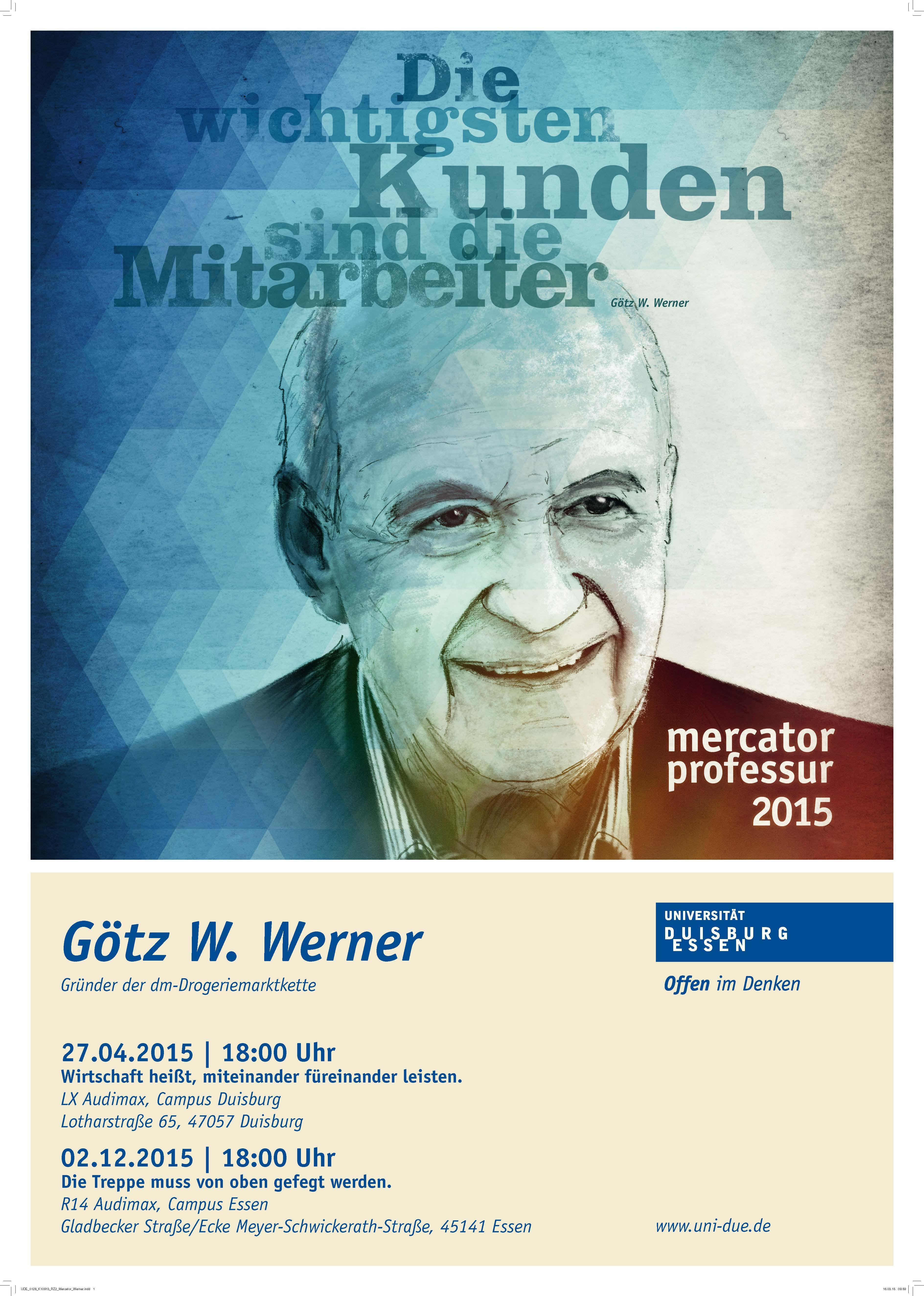Plakat Mercator-Professur 2015