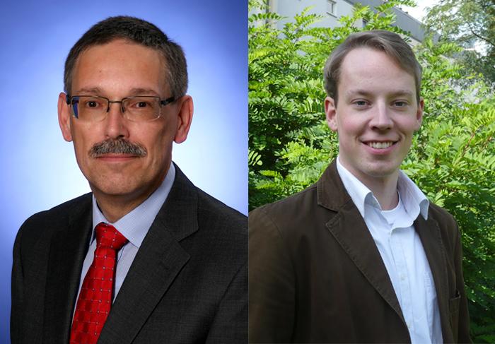 v.l.: Prof. Dr. Thomas Spitzley, Patrick Hintze