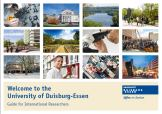 Preview of the electronic guide. It provides detailed information about your stay at the University of Duisburg-Essen and your new environs.