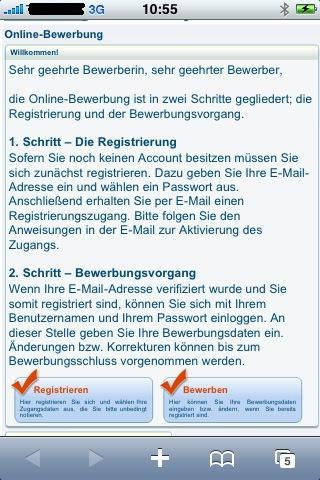 online bewerbung mit hisinone - Uni Bewerbung